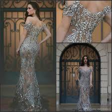 2017 amazing prom dresses off the shoulder illusion back major