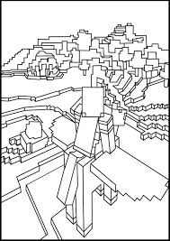 Free Kids Printable Minecraft Coloring Page