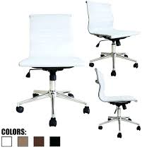 White Office Chair Armless Desk No Wheels Chairs With On ... Buy Office Chair Ea 119 Style Premium Leather Wheels China High Back Emes Swivel Chairs With Yaheetech White Desk Wheelsarmes Modern Pu Midback Adjustable Home Computer Executive On 360 Barton Ribbed W Thonet S 845 Drw Wheels Bonded 393ec3 Star Afwcom Ikea Office Chair White In Bradford West Yorkshire Gumtree 2 Adjustable Ribbed White Faux Leather Office Chairs With Wheels Eames Style Angel Ldon Against A Carpet Charming Black Genuine Arms Details About Classic Without Welsleather Wheelsexecutive