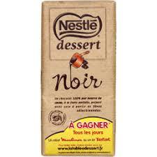 nestle dessert chocolat noir pâtissier 205 g auchan direct