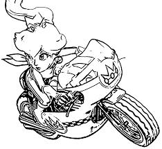 Mario Kart Coloring Pages Princess Peach