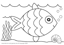 Rainbow Fish Template Cool Coloring Page