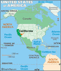 Locator Map Of California USA