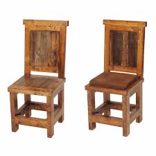 Rustic Wood Dining Chairs Interior Design 12
