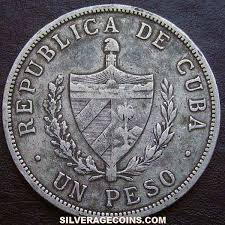 1915 Cuban Silver Peso High Relief Star