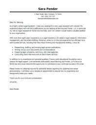 Legal Assistant Cover Letter Best Examples Executive