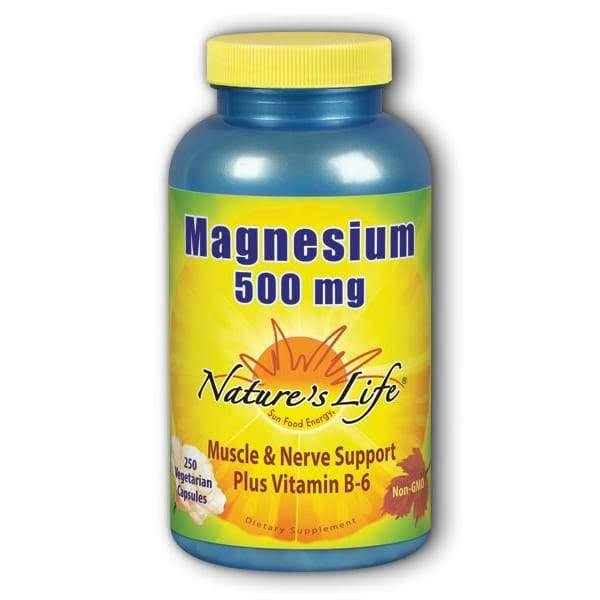 Nature's Life Magnesium 500mg Supplement - 250 Capsules