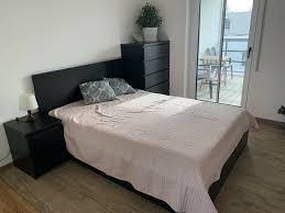 ikea schlafzimmer malm bett nachtkommode nachttisch