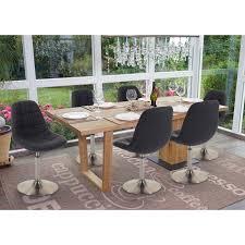 6x esszimmerstuhl hwc a60 stuhl drehstuhl textil dunkelgrau fuß gebürstet