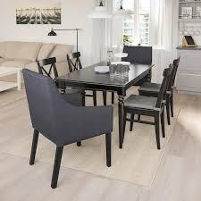 ingatorp ingolf tisch und 6 stühle schwarz sporda