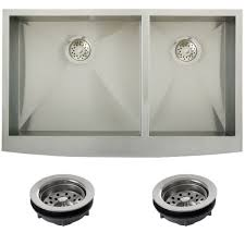 Overstock Stainless Steel Kitchen Sinks by Ticor Stainless Steel Undermount 36 Inch Double Bowl Farmhouse