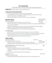 Examples Of Electrician Resumes Apprentice Resume Sample
