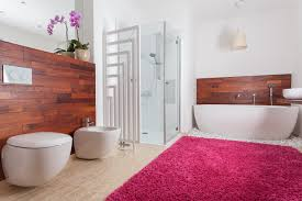 Tiled Carpet by A Carpeted Bathroom Making It Work Modernize