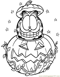Cat Halloween Coloring Pages