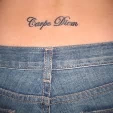 Carpe Diem Hip Tattoo On TattooChief