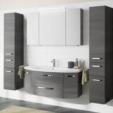 badezimmer set 120cm waschtisch mit unterschrank grau