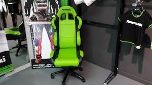 chaise baquet de bureau siege baquet fauteuil kawasaki racing nancy motos nancy
