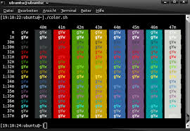 Wikiubuntuusers Bash Color Chart