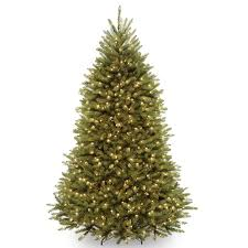 Charlie Brown Christmas Tree Walmart by Amazon Com National Tree 7 5 Foot Dunhill Fir Tree With 750 Clear