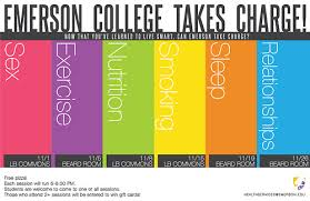 Emerson Takes Charge College Center For Health Wellness Poster Fall 2012