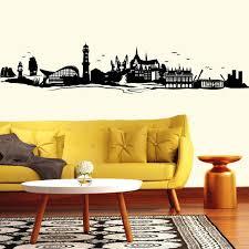 wandtattoo skyline rostock warnemünde wandaufkleber wohnzimmer heimatliebe
