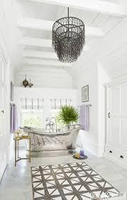 Chandelier Over Bathtub Soaking Tub by Attic Turned Into A Bathroom Bathroom With Soaker Tub