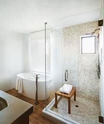 Sliced Pebble Tile Canada by White Shower Tile Bathroom Marble Subway Tiled Shower With