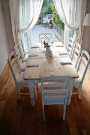 Shabby chic dining room table large and beautiful photos