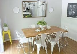 Apartment Dining Room Table Simple Design Ideas With Rectangle Brown Varnished