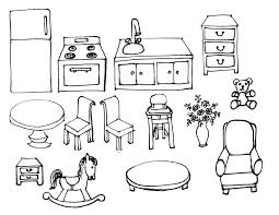 Kitchen (fridge, Stove, Sink, Table, Chairs) Rocking Horse, Dresser ...