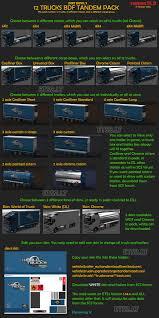 100 Truck Tandems BDF Tandem Pack V 250 ETS 2 Mods