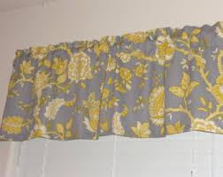 yellow gray window valance mustard yellow valance grey yellow