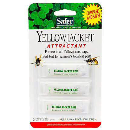 Safer Brand 3 pack Refills Yellow Jacket Wasp Trap 2006