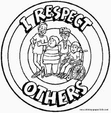 Respect Others Coloring Pages Character Education Pinte