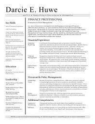 Financial Analyst Resume Samples Career Change Sample For Skills