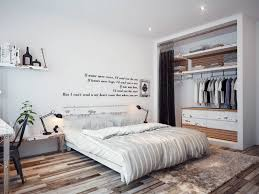 Bedroom Wall Quote White Large Closet Design Double Black Table Lamp Comfy Bed Wooden