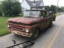 100 Ford Unibody Truck For Sale 1961 F250 Pickup Parts Or Restoration