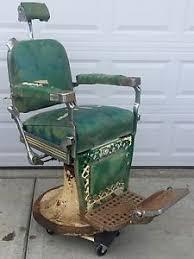 vintage 1955 emil j paidar barber shop chair headrest for parts