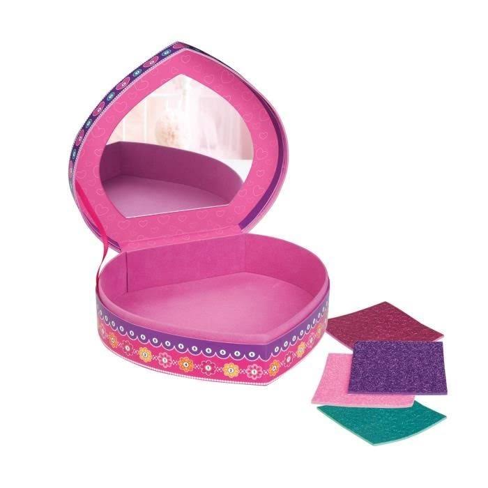 "Orb The Factory Sticky Mosaics Heart Jewelry Box Arts & Crafts, Pink/Purple/Teal, 8.26"" x 2.64"" x 7.67"""