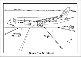 Boeing 787 Dreamliner Colouring Page Thumbnail Image