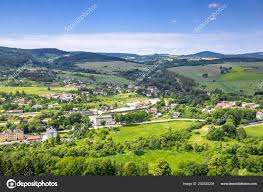 100 Houses In Nature Aerial View Countryside Scenery Mountain Valley Town