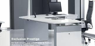 bureau direction verre meubles de direction bureau design contemporain plateau verre ou