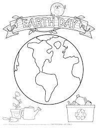 DOWNLOAD PRINT The EARTH DAY COLORING PAGE