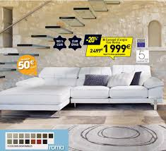 garantie canapé conforama canapé d angle fixe droit 4 places newden roma coloris blanc prix