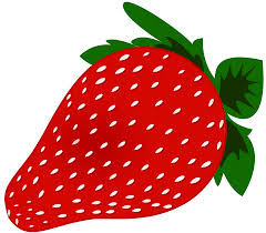 Word Strawberry Clipart 1