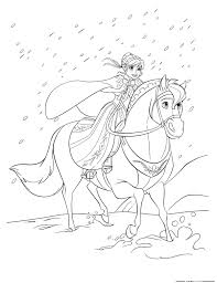 In This Beautiful Scene Anna Leaves Arendelle To Find Her Sister Elsa What About Print And Color Free Disney Frozen Movie Coloring Sheet