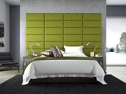 komfortable wandverkleidung polsterwand im schlafzimmer