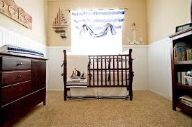 Simple White Nursery Room Interior Set With Lined Light Blue ... Pottery Barn Wall Hooks Pb Teen Wicker Peace Shelf At Modern Tufted Wingback Rocker Stylish Nursery Chairs 209 Best Crate And Barrel Images On Pinterest Baby Sailboat Wallpaper Boy Ideas For Masculine Blue And White Kids Room Color With Decorative Bath 115624 Nwt Pink Whale Beach Towel Best 25 Barn Shelves Ideas Bedroom Sheets Kids Redones Patchwork The Hallway Life Love Simply Creative Boys Michaels Nautical Oasis Project Going Coastal Part I Aylee Bits Bedroom Ceiling Stars Hgtv