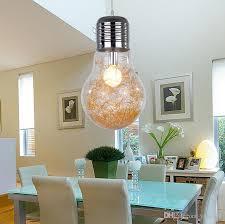 large light bulb pendant lights modern simple creative style
