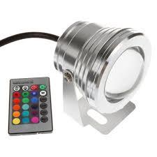 rgb led underwater light 1000lm waterproof ip67 12v 10w cool warm